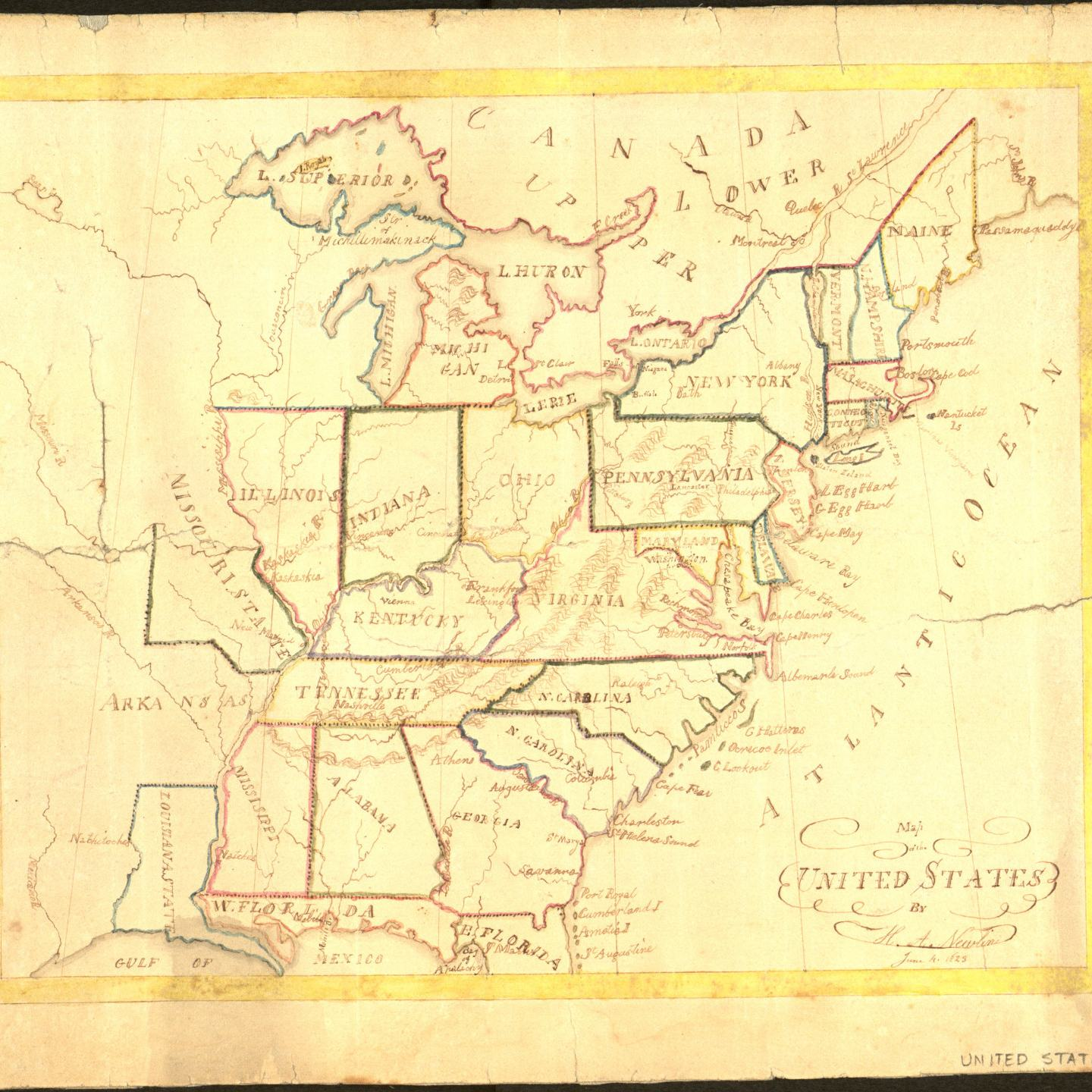Mapgallery - Map of us in 1823