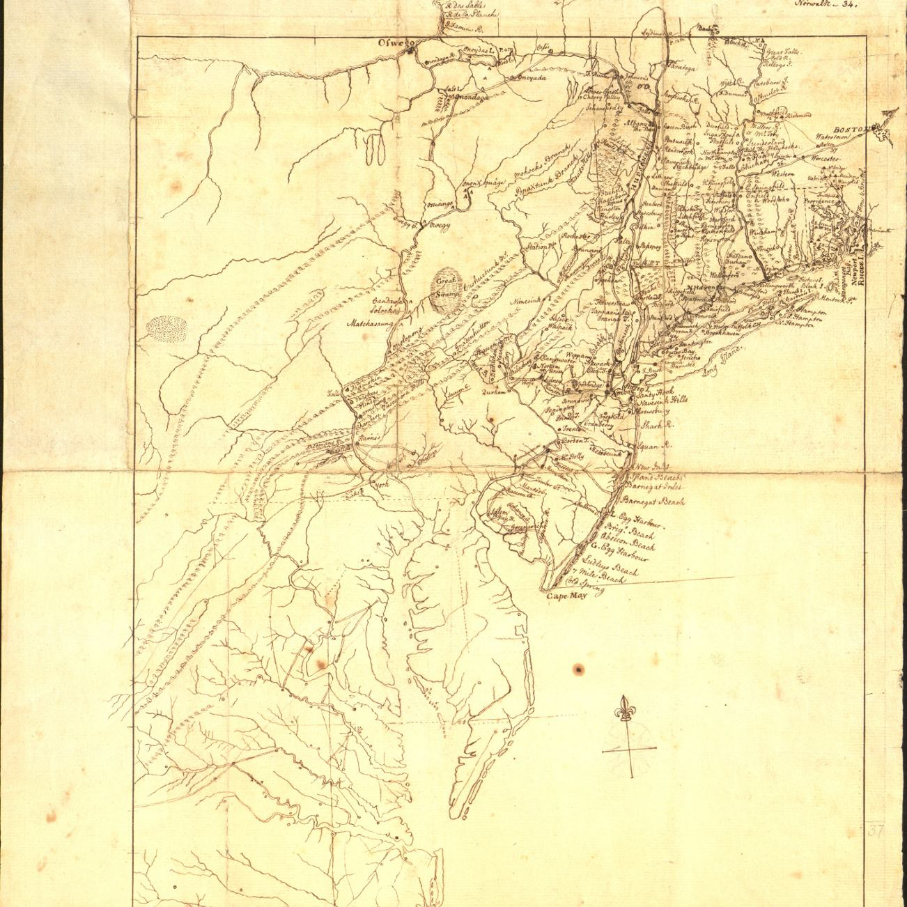 Map_of_the_Country_Between_Burligton__and_Boston