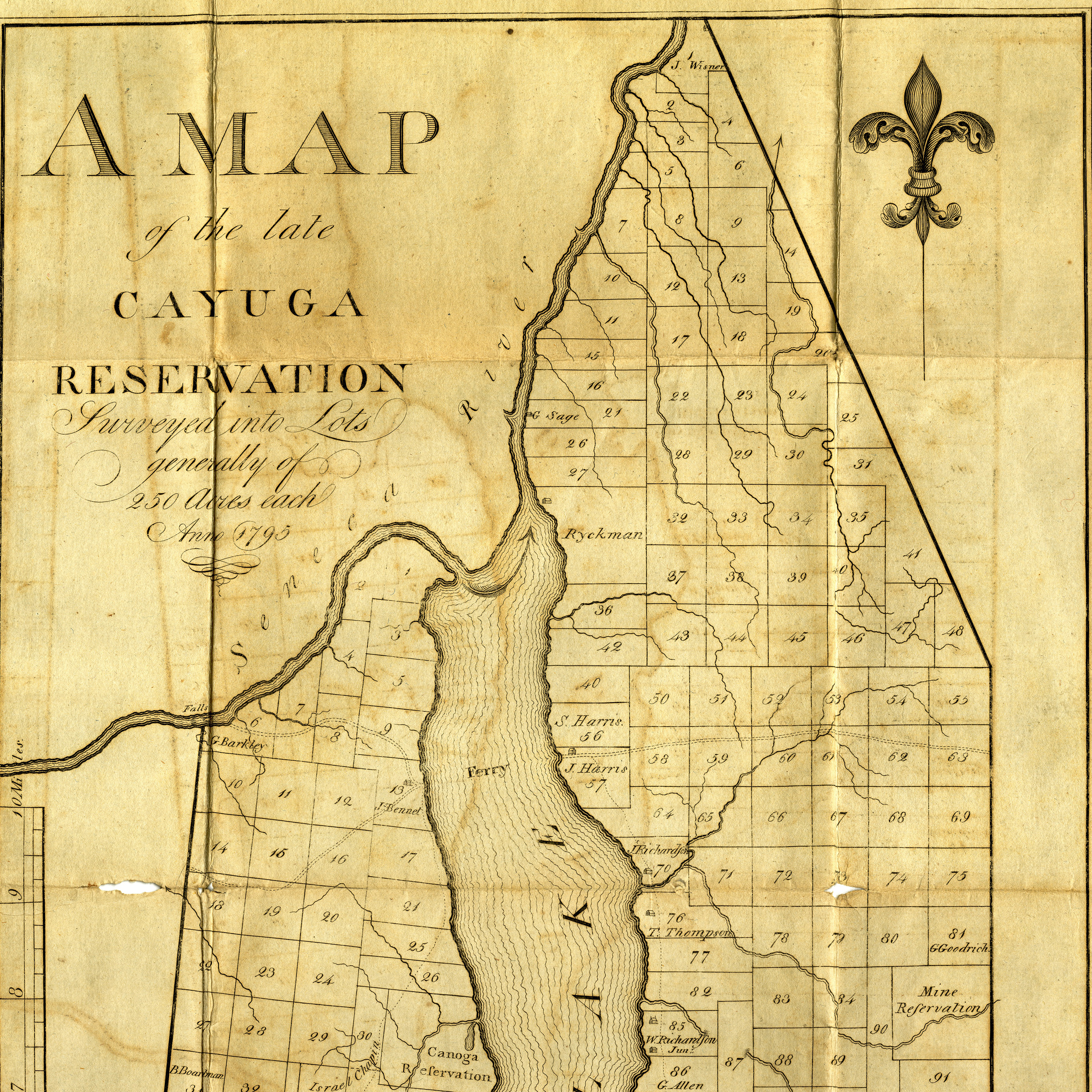 A Map of the late Cayuga Reservation